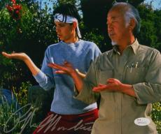 Ralph Macchio Signed Karate Kid 8x10 Photograph with Mr. Miyagi JSA