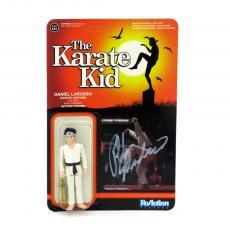 Ralph Macchio Signed Karate Kid Daniel Larusso Funko Reaction Collectible Toy Figure