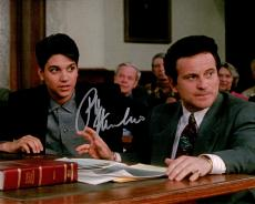 Ralph Macchio Signed My Cousin Vinny In Court Room With Joe Pesci 8x10 Photo