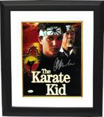 Ralph Macchio signed The Karate Kid 11X14 Photo Custom Framed w/Pat Morita- JSA (Daniel LaRusso/Mr. Miyagi)(movie/entertainment)