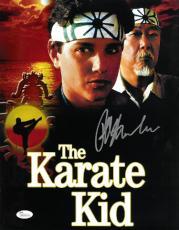 Ralph Macchio signed The Karate Kid 11X14 Photo w/ Pat Morita- JSA Hologram (Daniel LaRusso/Mr. Miyagi) (movie/entertainment)