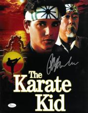 Ralph Macchio signed The Karate Kid 11X14 Photo w/ Pat Morita- JSA Hologram (Daniel LaRusso/Mr. Miyagi) (movie/entertainment)