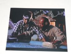 Ralph Macchio Signed The Karate Kid 11x14 Wax On Wax Off Scene Inscription Proof