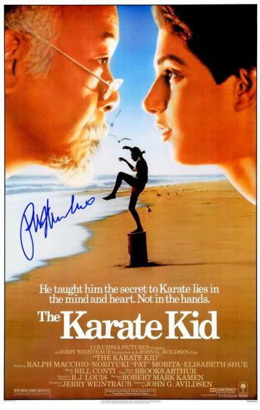 Ralph Macchio Signed The Karate Kid 11x17 Movie Poster