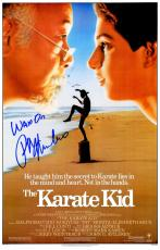 Ralph Macchio Signed The Karate Kid 11x17 Movie Poster w/Wax On