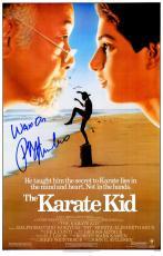 Ralph Macchio Signed The Karate Kid 11x17 Movie Poster w/Wax On