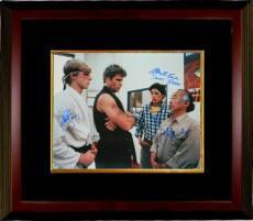 Ralph Macchio signed The Karate Kid 16X20 Photo Custom Framed w/ William Zabka & Martin Kove (entertainment/movie memorabilia)
