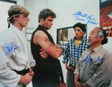 Ralph Macchio signed The Karate Kid 16X20 Photo w/ William Zabka & Martin Kove (entertainment/movie memorabilia)