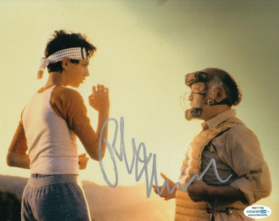 RALPH MACCHIO signed (THE KARATE KID) Movie 8x10 photo *Daniel Larusso* ACOA #5