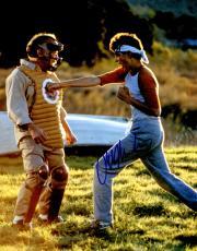 Ralph Macchio Signed The Karate Kid Punching Mr. Miyagi While Training 11x14 Photo