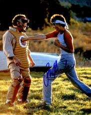 Ralph Macchio Signed The Karate Kid Puching Mr. Miyagi While Training 8x10 Photo