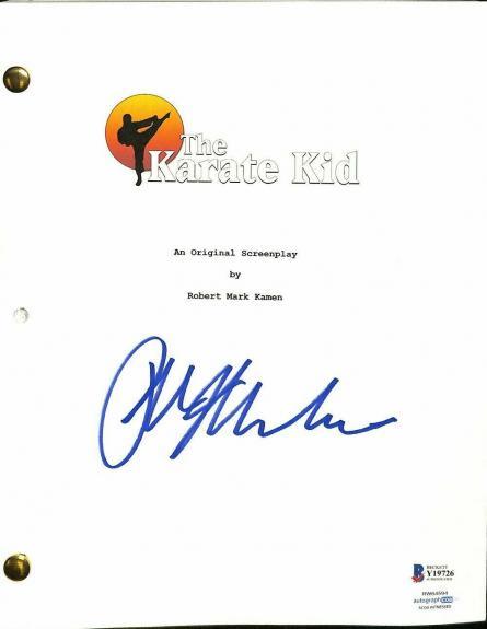 Ralph Macchio Signed The Karate Kid Script BAS