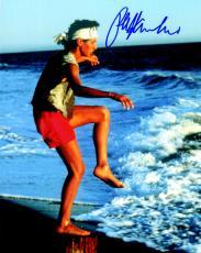 Ralph Macchio Signed The Karate Kid Training On Beach 8x10 Photo