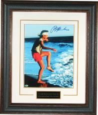 Ralph Macchio signed The Karate Kid Training on the Beach 11X14 Photo Leather Framed (Daniel LaRusso)