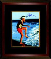 Ralph Macchio signed The Karate Kid Training on the Beach 8x10 Photo Custom Framed (Daniel LaRusso)