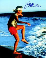 Ralph Macchio signed The Karate Kid Training on the Beach 8x10 Photo (Daniel LaRusso)