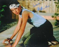 Ralph Macchio Signed The Karate Kid Waxing Floor 16x20 Photo w/Wax On
