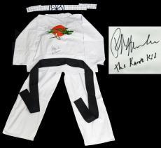 Ralph Macchio Signed The Karate Kid White Karate Uniform Gi & Headband w/The Karate Kid
