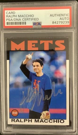 Ralph Macchio Signed Trading Card NY Mets Karate Kid Cobra Kai Autograph PSA/DNA
