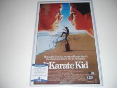 Ralph Macchio The Karate Kid Beckett/coa Signed 12x18 Movie Poster Photo