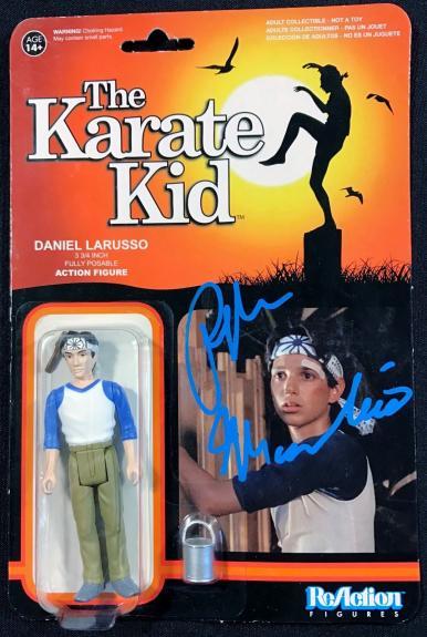 Ralph Macchio The Karate Kid Signed Autographed Action Figure JSA Authentic 3190