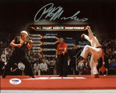 Ralph Macchio The Karate Kid Signed Crane Kick 8X10 Photo PSA/DNA