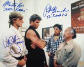 "Ralph Macchio ""The Karate Kid"", William Zabka ""Johnny"" & Martin Kove ""Sensei Kreese"" Signed Dojo 11x14 Photo"