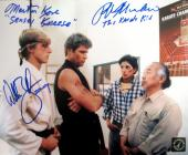 "Ralph Macchio ""The Karate Kid"", William Zabka ""Johnny"" & Martin Kove ""Sensei Kreese"" Signed Dojo 8x10 Photo"