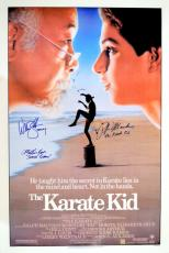 "Ralph Macchio ""The Karate Kid"", William Zabka ""Johnny"" & Martin Kove ""Sensei Kreese"" Signed Movie Poster"
