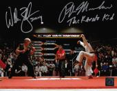 "Ralph Macchio ""The Karate Kid"" & William Zabka ""Johnny"" Signed Crane Kick 8x10 Photo"