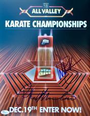 Ralph Macchio William Zabka (All Valley Championship) Signed 11x14 Photo JSA
