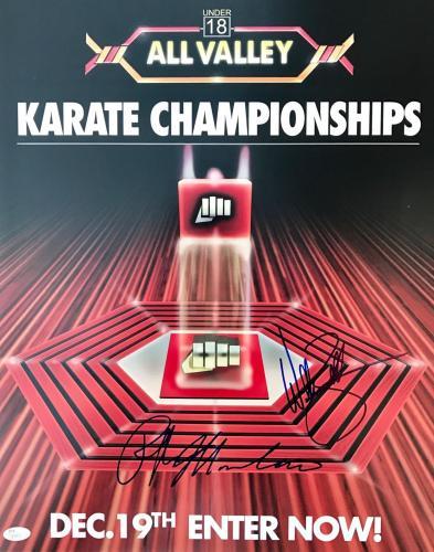 Ralph Macchio William Zabka (All Valley Championship) Signed 16x20 Photo JSA