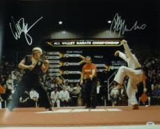 "Ralph Macchio & William Zabka Autographed ""karate Kid"" 16x20 Photo 19088 Psa/dna"