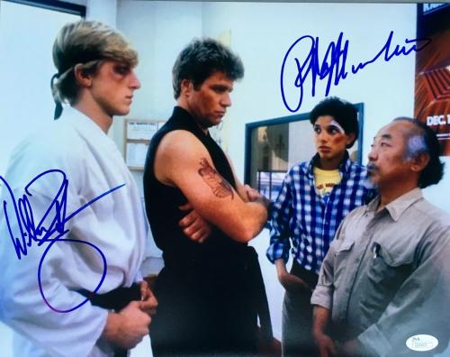 Ralph Macchio William Zabka Karate Kid Signed 11x14 Photo JSA
