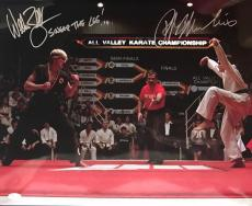 Ralph Macchio William Zabka Karate Kid (Sweep The Leg) Signed 16x20 Photo JSA