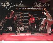 Ralph Macchio William Zabka Karate Kid (Sweep The Leg) Signed 16x20 Photo JSA