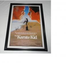 Ralph Macchio William Zabka Martin Kove Signed The Karate Kid 27x40 Movie Poster