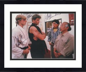 Ralph Macchio William Zabka Martin Kove Signed The Karate Kid 11x14 Photo Proof