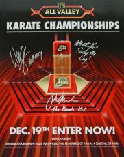 Ralph Macchio, William Zabka & Martin Kove Signed The Karate Kid All Valley Tournament 16x20 Photo w/The Karate Kid, No Mercy, Sweep The Leg