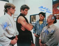 Ralph Macchio, William Zabka & Martin Kove Triple Signed The Karate Kid 16x20 Photo w/Johnny, Sensei Kreese