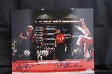Ralph Macchio William Zabka signed 11x14 autographed photo PSA ITP 7A64764