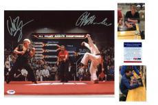 Ralph Macchio & William Zabka SIGNED 16x20 Photo - PSA/DNA -Karate Kid Auto