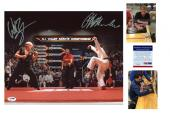 Ralph Macchio & William Zabka SIGNED 16x20 Photo - PSA/DNA -Karate Kid Auto