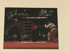 Ralph Macchio William Zabka Signed The Karate Kid Final Match 11x14 Photo Proof