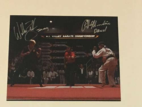 Ralph Macchio William Zabka Signed The Karate Kid Final Match 11x14 Photo Proof