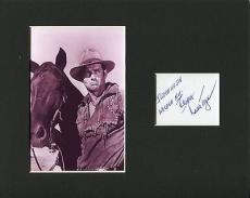 Ralph Taeger Hondo Western Twilight Zone Star Signed Autograph Photo Display
