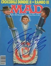 MAD MAGAZINE signed RAMBO III - sylvestor stallone - DECEMBER 1988