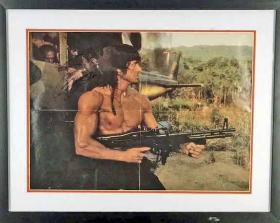 Rambo Sylvester Stallone Signed Autographed 16x24 Photograph JSA Authentic