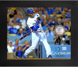 "Hanley Ramirez Los Angeles Dodgers Framed 20"" x 24"" Gamebreaker Photograph with Game-Used Ball"