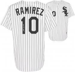 Alexei Ramirez Chicago White Sox Autographed Pinstripe Replica Jersey